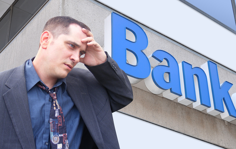 Customer turned down at bank for business loan due to bad credit