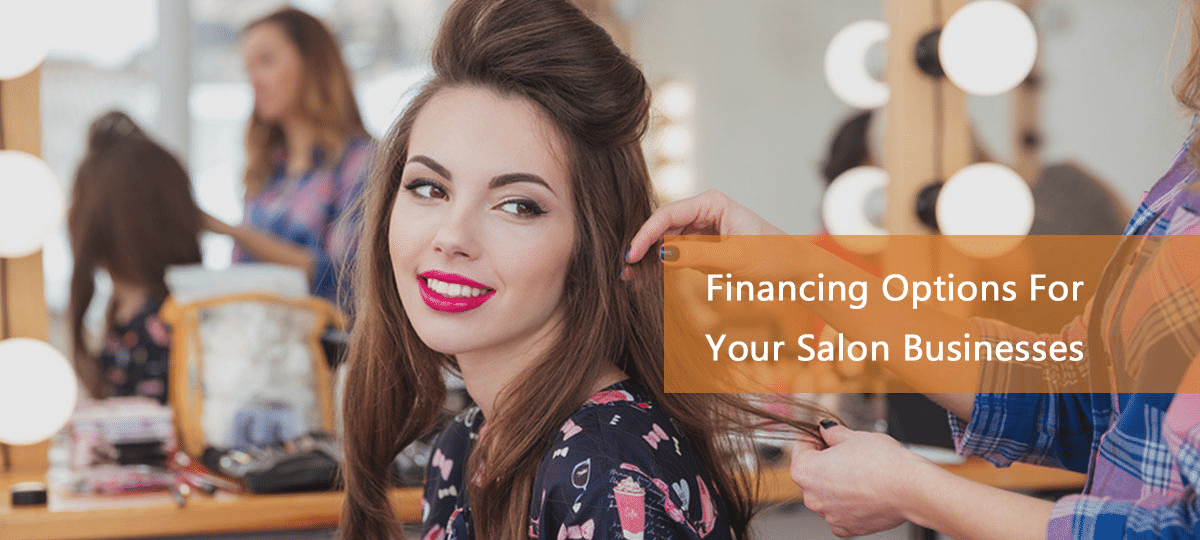 woman styling hair due to salon financing