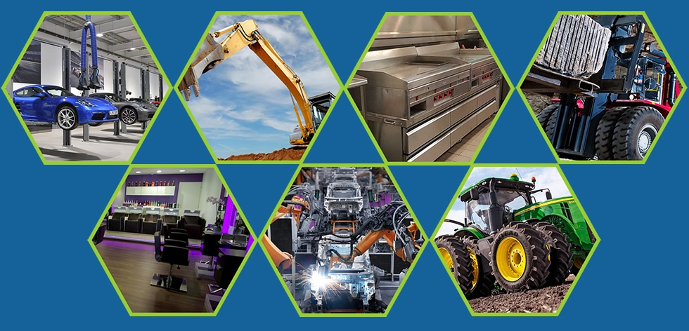 Images of different Equipment Financing industries