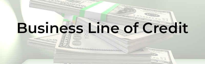 Stack of cash taken out by Business Line of Credit Business Loan Type