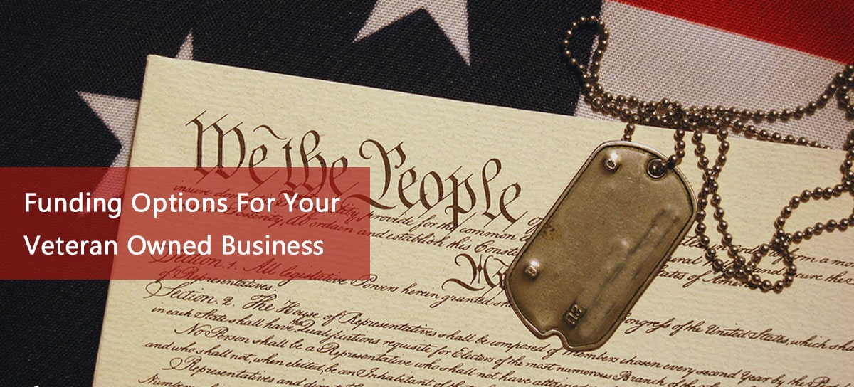 business funding for veterans with image of constitution