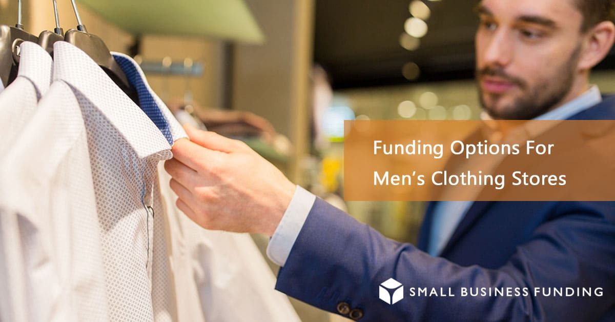 Customer looking at men's clothing store shirts