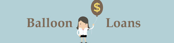 Woman holding balloon with dollar sign signifying a balloon loan