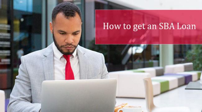 Man researching how to get an sba loan
