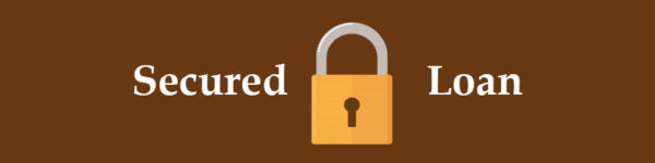 Closed padlocks signifying a secured loan