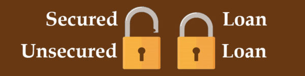 Open padlocks signifying a unsecured loan