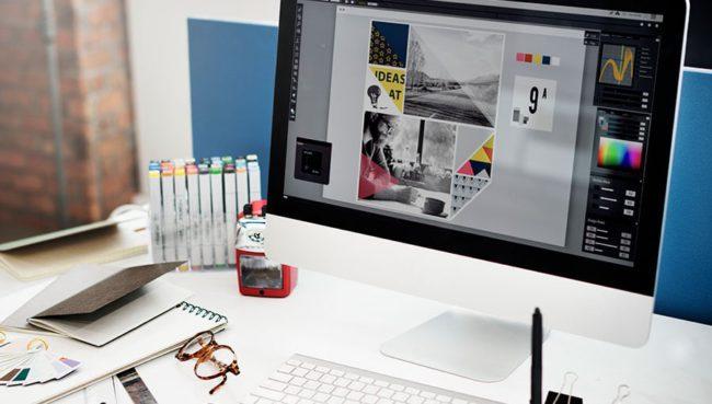 Viewing branding image on laptop