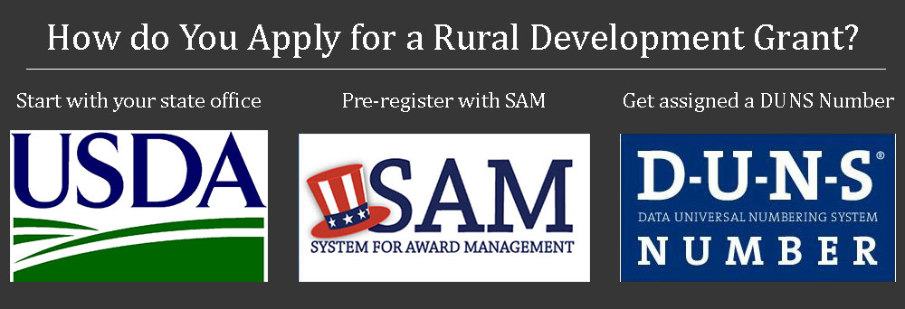 Steps needed to apply for a rural development grant