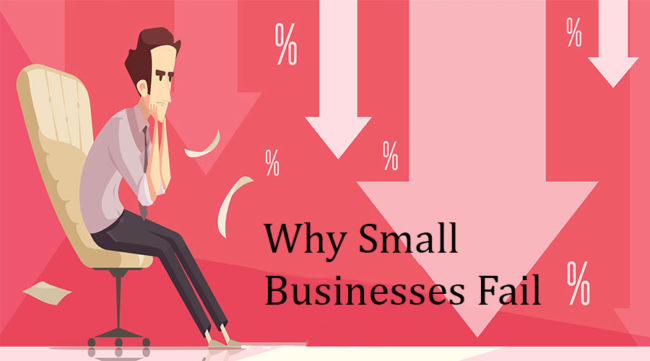 Businessman wondering why small business fail