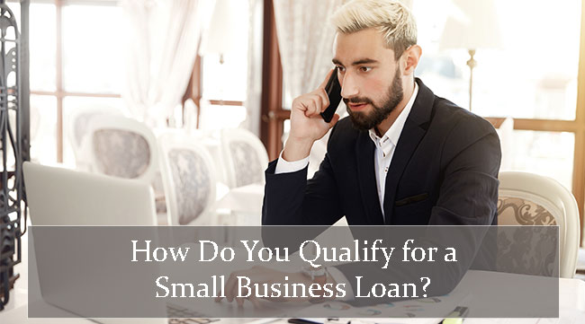 Businessman on the phone with Small Business Funding discussing how to qualify for a small business loan