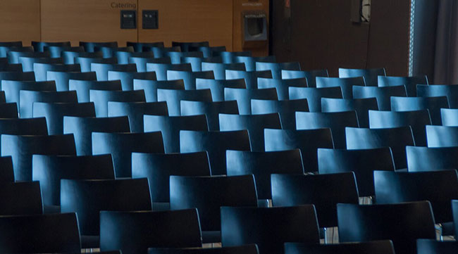 Empty auditorium symbolizing where are my customers