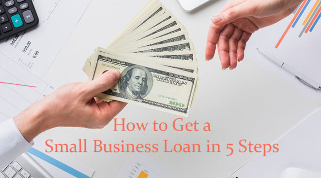 Money exchanging hands for a small business loan